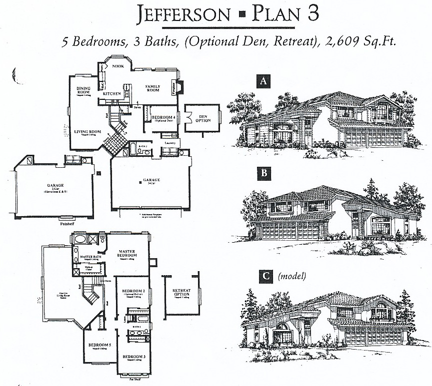 Monticello floor plans livermore homes ca for Monticello house plans